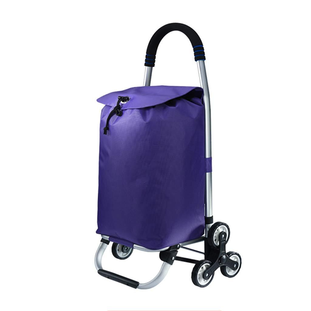 KTYX スタイリッシュな軽量折りたたみトロリー防水大容量 トロリー (色 : Purple) B07H6FH2FL Purple