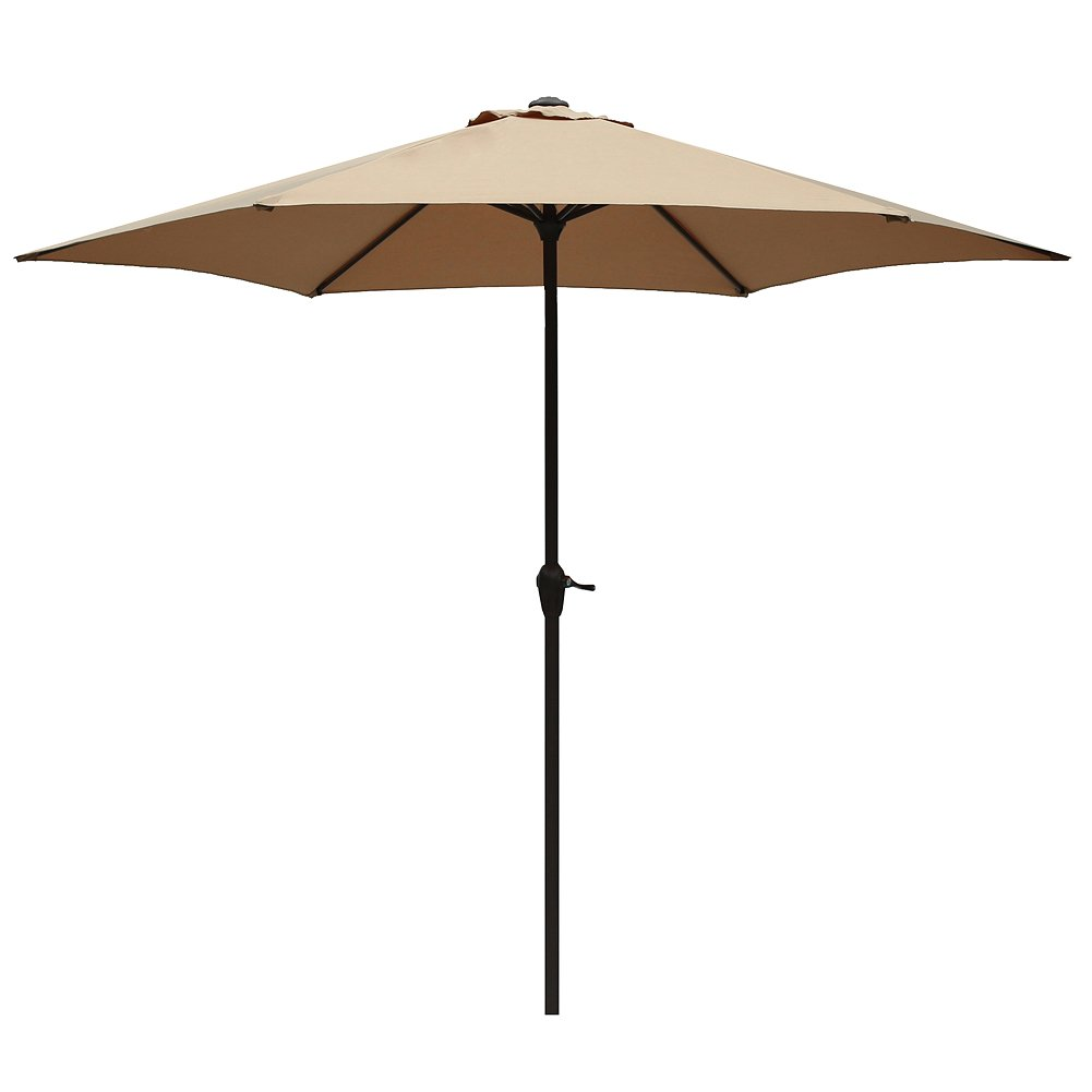 Attractive Le Papillon 9 Ft Outdoor Patio Umbrella Aluminum Table Market Umbrella 6  Ribs Crank Lift Push