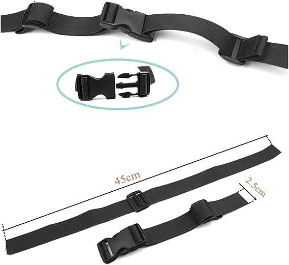 Negro Mochila de nylon con correa para el pecho ajustable de 4 piezas para mochilas escolares universal resistente para trotar y caminar