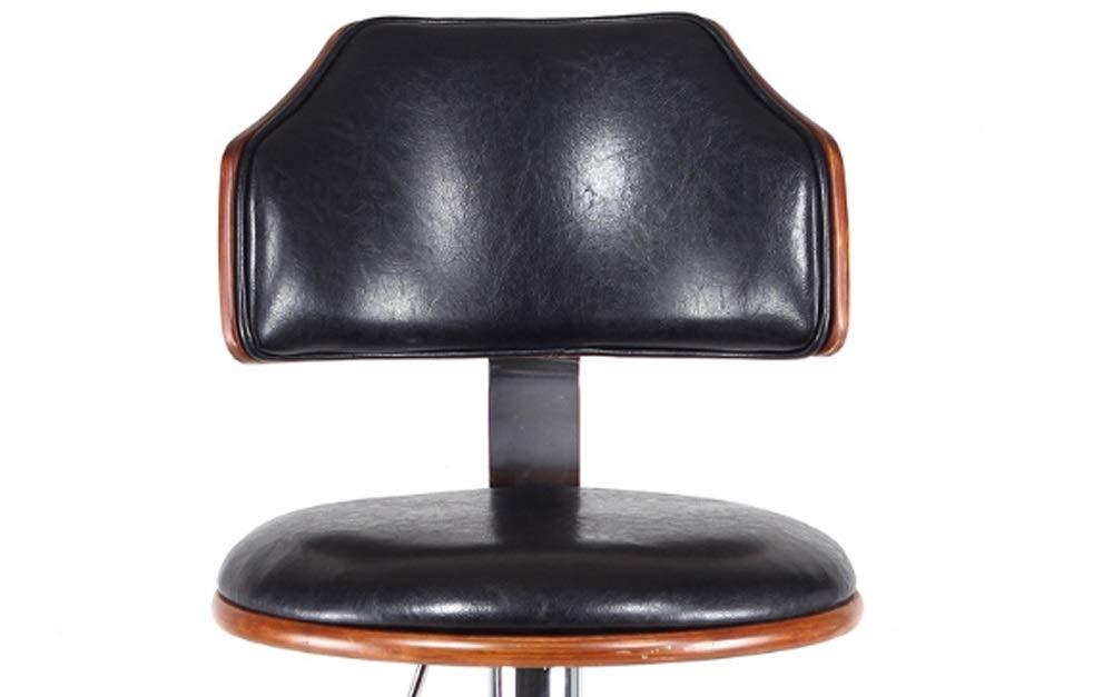 AO-stools Bar Chair Bar Stool Stylish American Solid Wood Bar Chair Lift 60x40x17cm by AO (Image #9)