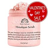 Pure Himalayan Pink Salt Body Scrub 12 oz By White Naturals:All Natural Body Exfoliator Scrub With Nourishing Vitamins,Exfoliate For Soft &Healthy Skin,Massaging Scrub For Sore Muscles