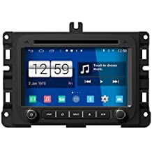 RoverOne Android 4.4.4 In Dash Car DVD GPS Navigation System for Dodge RAM 1500/2500/3500 2013 2014 2015 with Stereo Radio Bluetooth GPS SD USB Mirror Link Touch Screen