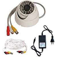 Vanxse® Cctv 1/3 Sony CMOS 960H 1200TVL Day Night Vision 48 Infrared Leds IR-CUT with Audio 3.6mm Wide View Angle Lens Audio Dome Security Camera Kit System