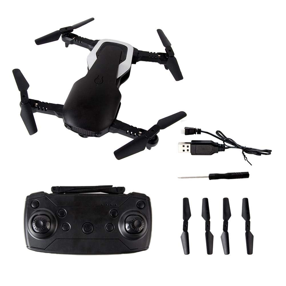 Black Eine Kamera haben liuxi JD23 Aircraft with WiFi HD Camera Remote Control Aircraft UAV Folding Quadcopter, White, Eine Kamera haben
