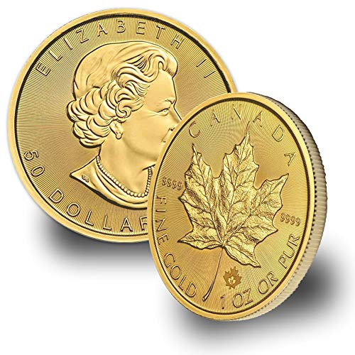 2018 CA - 1oz Gold Maple Leaf Coin $50 Brilliant Uncirculated (Fine Gold Coin)