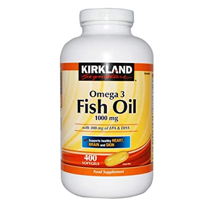 Kirkland Omega 3 Fish Oil 1000 mg 400 Softgels