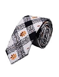 Ysiop Men Printed Cotton Neckties Fashion Skinny Cravat Ties 2