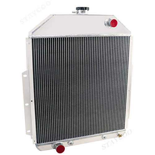 Primecooling 4 Row Core All Aluminum Radiator for Ford F1 F2 F3 F4, 1, 1/2 ,3/4 Ton Pickup Truck 1942-52 (Ford Engine)