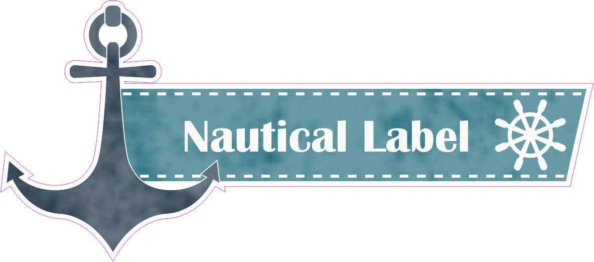 1 x Aufkleber Nautical Label Meer Strand Matrose Sticker Fun Decal Gag Tuning