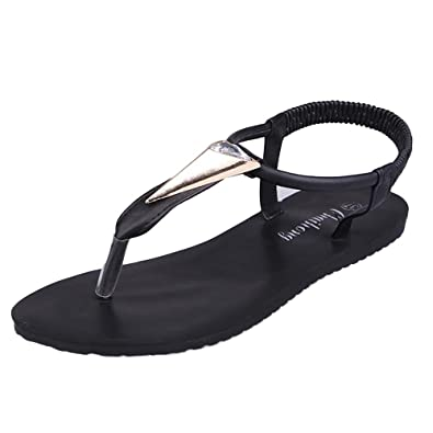 e0ea8d409c51a LuckUk Womens Sandals Ladies Sandals Women Flat Shoes Diamonds Bohemia  Leisure Lady Sandals Peep-Toe