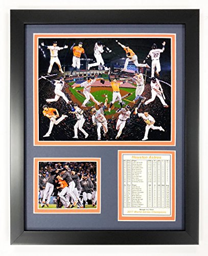 Legends Never Die 2017 MLB Houston Astros World Series Champions Framed Photo Collage, Collage, 12 x 15