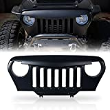 Xprite Angry Bird Grill Front Matte Black Grille Grid Accessories for 1997-2006 Jeep