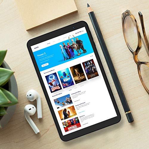 Tablet 8-Inch Android 10.0 Wi-Fi - VUCATIMES N8 Tablets 32GB ROM Quad-Core Dual Camera Processor IPS HD Display Bluetooth 4.2 (Black)