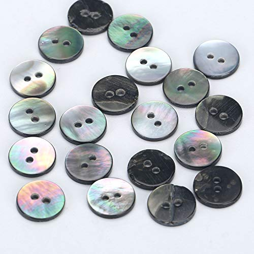 Wholesale Natural Elegant Iridescent Round Shell Buttons 11MM Flatback Sewing Buttons Bulk for Art & Craft, DIY, - Buttons Sewing Wholesale