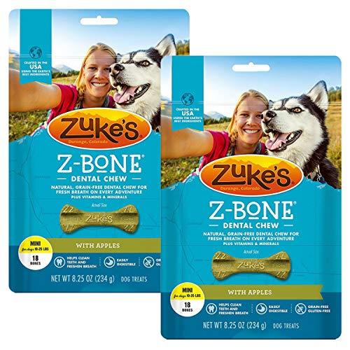 - Zuke's Z-Bone Dental Chew Dog Treats