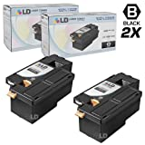 LD © Compatible Replacements for Xerox 106R1630 Set of 2 Black Laser Toner Cartridges for use in Phaser 6000, 6010, 6010N, WorkCentre 6015, 6015V/B, 6015V/N, and 6015V/NI Printers