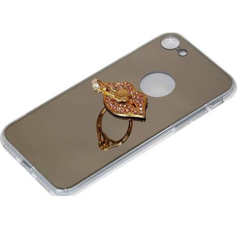 63c023957d iphoneseケース iphone5s ケース シリコン iphone5 ケース リング スタンド機能 鏡 TPU アイフォン ケース カバー  スマホケース
