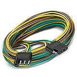 Partsam 4-Way Flat Y-Style Trailer Wiring Harness
