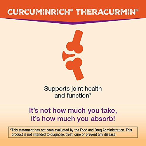 CurcuminRich by Natural Factors, Double Strength Theracurmin, Turmeric Supplement, Tumeric Supplement Joint and Heart Function, 60 Capsules (60 Servings) (FFP) by Natural Factors (Image #3)