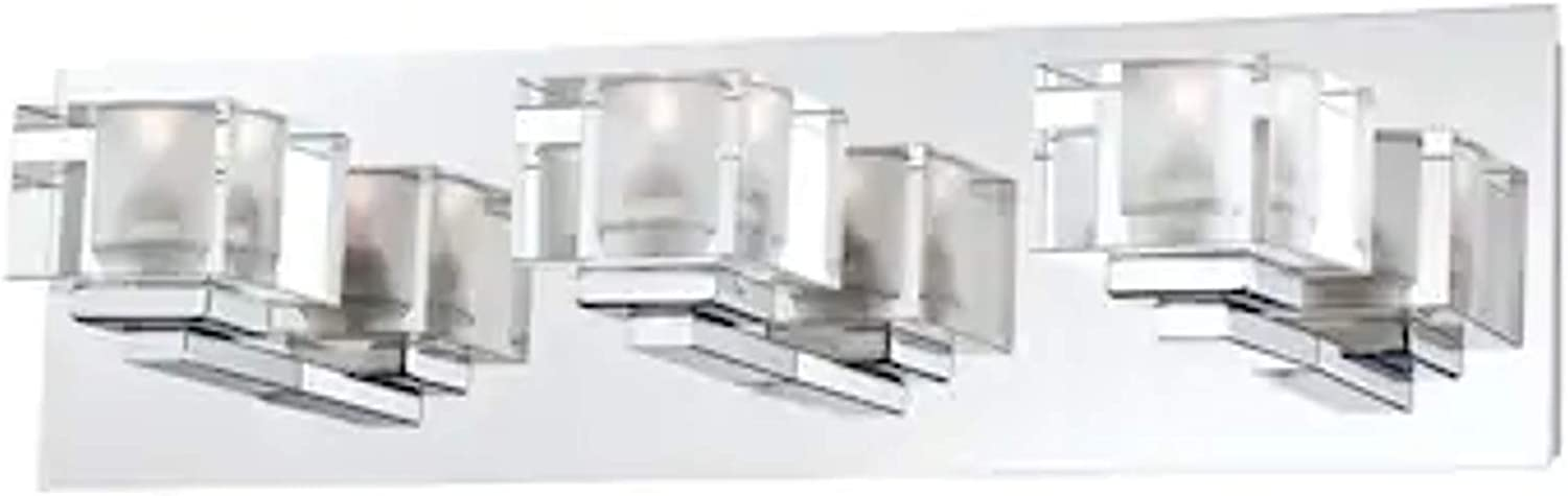 Portfolio 3-Light Prism Chrome Bathroom Vanity Light
