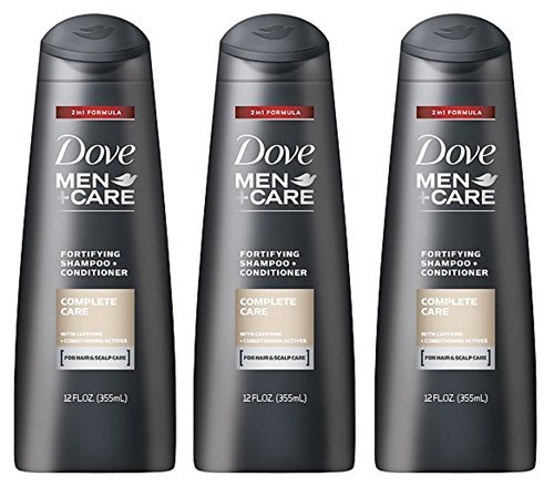 Fortifying Care - Dove Men+Care Fortifying 2-in-1 Shampoo + Conditioner, Complete Care, 12 Ounce (Pack of 3)