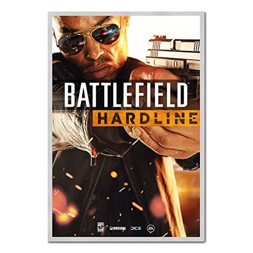 New Battlefield Hardline Cover Poster Magnetic Notice Board Silver Framed - 96.5 x 66 cms (Approx 38 x 26 inches) supplier