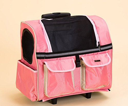 (KAI-Pets allowed the multifunction lever on the chassis PET package large capacity from his back hidden hard bottom lever Package,45X24X38cm)