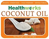 Healthworks Coconut Oil Organic Extra Virgin Cold-Pressed, 16oz - 518vvuVYc9L - Healthworks Coconut Oil Organic Extra Virgin Cold-Pressed, 16oz