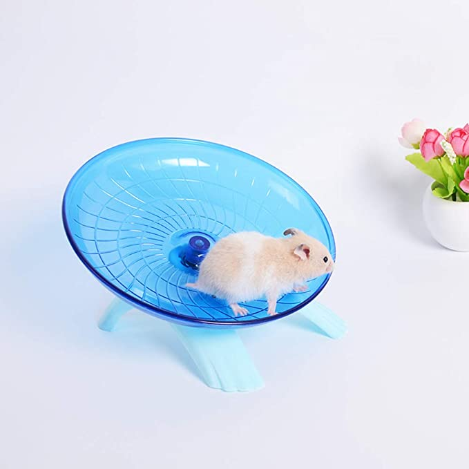 Hamster Flying Saucer Exercise Wheel /& Rat Wood Bridge Rainbow Climb Durable ABS Plastic Running /& Jogging Running Silent Spinner For Mouse Hedgehog Chinchilla Pets Mice Hamsters Gerbil Cage Toy