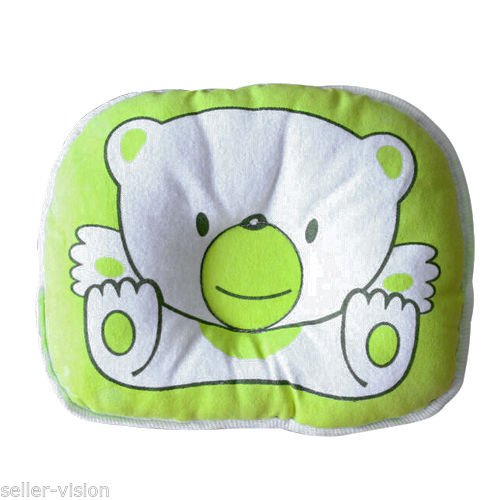 1PCS Bear Pattern Pillow Newborn Infant Baby Support Cushion Pad Prevent Flat Head