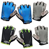 Rory Tory 3 Pairs of Ultra Thin Neutral Textured Grip Large Bicycling Glove Set