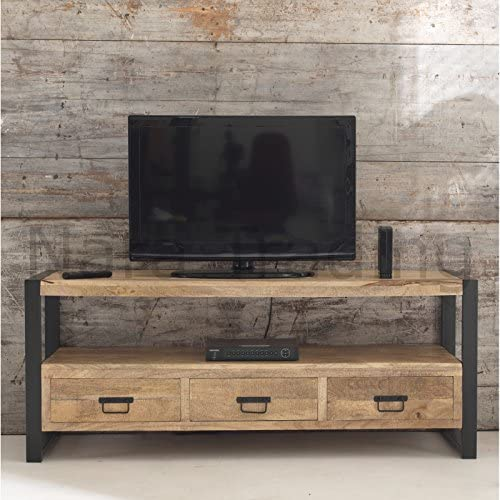 Harbour Indian Reclaimed Wood Furniture Large Television Unit