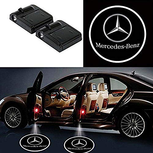 (Mercedes-Benz Wireless Car Door Led Welcome Laser Projector,No Drill Type Logo Light for Mercedes-Benz)