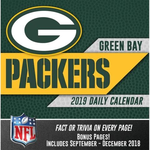2019 Greenbay Packers 365 Page-A-day DAILY CALENDAR/Desk Calendar