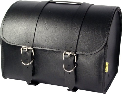 Dowco Willie & Max 58505-00 Standard Series: Synthetic Leather Max Pax Motorcycle Tour Trunk, Black, Universal Fit, 20 Liter Capacity