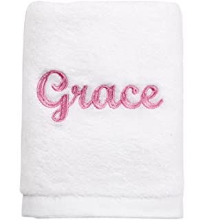 amazon com personalized bath towel embroidery and monogrammed