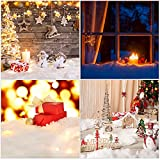 3 Pack 3 x 8 Ft Christmas Snow Blankets- Thickened