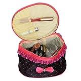 Kuber Industries Bow Stylish Make Up Bag, Make Up Organiser,Cosmetic Bag, Vanity Box with handle (Wedding Collection) KI19494