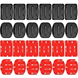 Neewer 24 Pieces Helmet Adhesive Pads Sticker - 12 Curved and 12 Flat Mounts for GoPro Hero 6 5 4 3+ 3 2 SJ4000 5000 6000 DBPOWER AKASO VicTsing APEMAN Rollei Lightdow And Sony Sports DV and More