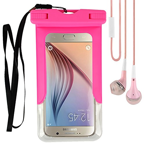 Cellphone Waterproof Dry Bag (Pink) for ZTE Zmax Champ / Zmax Pro / Axon 7S / Max XL / Blade Spark / X Max / V7 Plus / Max 3 / A602 / A2 Plus / V8 Pro / Nubia N2 M2 Z17 5.2
