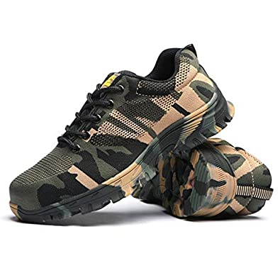 f4ad55283887c Takefuns Steel Toe Shoes Men Women, Work Safety Shoes Breathable ...