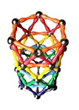 Magz 132 piece Magnetic Building Set containing 84 Short Magnetic Rods and 48 Steel Balls