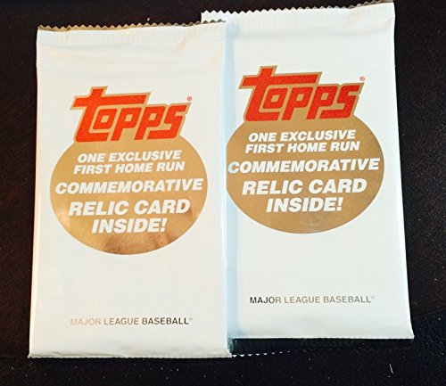 lot-of-2-x-2015-topps-update-factory-sealed-first-home-run-commemorative-relic-packs-each-pack-conta