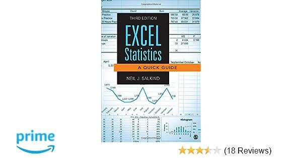Amazon com: Excel Statistics: A Quick Guide (9781483374048