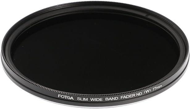 Amazon Com Ruili Slim Fader 77mm Variable Nd Filter Neutral Density Adjustable Nd2 To Nd400 Lens Filter For Dslr Cameras Camera Photo