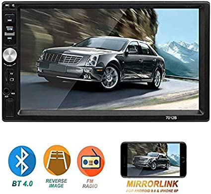 "Camera 7/"" HD Double 2 Din Bluetooth Touch Screen Car In Dash Stereo MP5 Player"