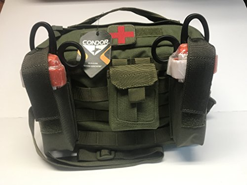 Spec Operator Active Shooter Multiple Injury Emergency Response Kit w/ 4 CAT High Visibility OrangeTourniquets and Trauma (Emergency Response Kit)