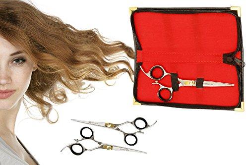 Ruvanti Professional Razor Blades Hair Scissors - Barber Hair Cutting Scissor - 6.5'' Japanese Super Cobalt Stainless Steel Hair Shear - Hairdresser Scissor/Barber Scissors with Gold Painted Screw by Ruvanti (Image #7)