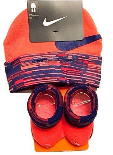 Hat Cap Booties - Nike Baby Boy's Big Swoosh Graphic Print Hat & Booties Set 0-6M