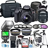 Canon EOS Rebel T6 Camera w/Canon EF-S 18-55mm is II Lens & Tamron 70-300mm Zoom Lens + 32GB Sandisk Memory + Canon Case + TTL Speedlight Flash (Good Up-to 180 Feet) + Accessory Bundle